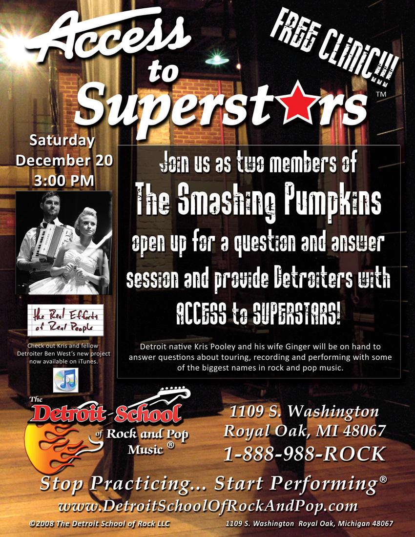ACCESS TO SUPERSTARS – Smashing Pumpkins – December 2008