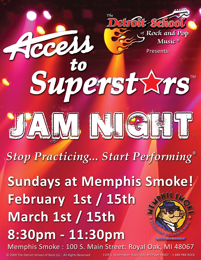 ACCESS TO SUPERSTARS – Jam Night at Memphis Smoke