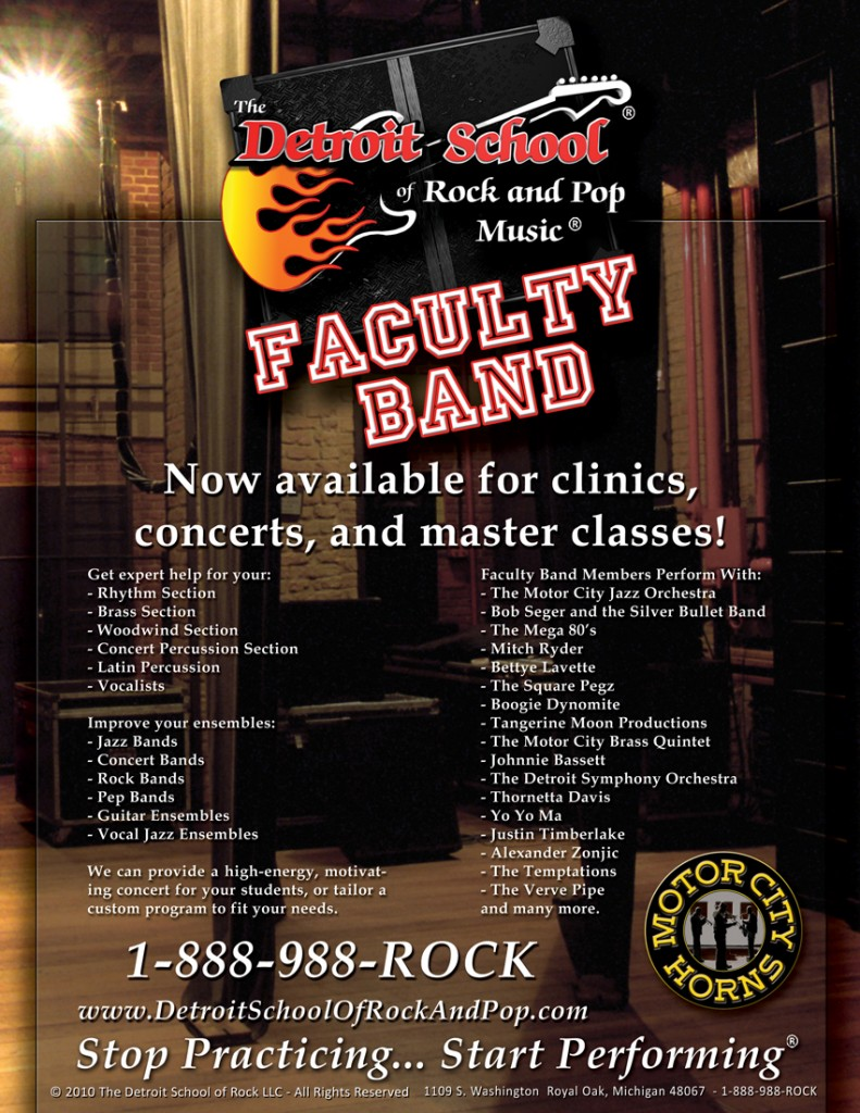 DSRP Faculty Band now available for clinics, concerts, and master classes!